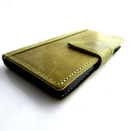 genuine vintage leather case for samsung galaxy s5 book wallet magnet green cover slim s 5 daviscase