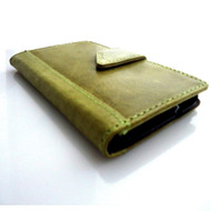genuine vintage leather case for htc one m8 cover purse book pro wallet stand m8 apple green