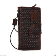 genuine full leather case for iphone 5s 5c book wallet magnet cover credit cards slots brown slim daviscase