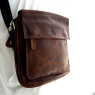 Genuine vintage Leather Shoulder Satchel Bag Messenger cross body 10 9 tablet  Purse Hobo Satchel