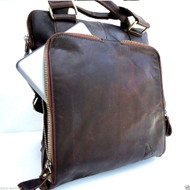 Genuine  vintage Leather Bag Messenger for iPad air 4 handbag man tote ebook 11 tablet