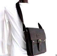 genuine Leather men Bag Messenger for iPad air retro cross body Shoulder Satchel 12 free shipping