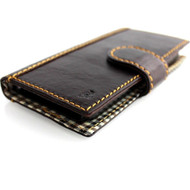 genuine leather case for iphone 5s 5c 5 cover book wallet credit card c s flip handmade luxury !