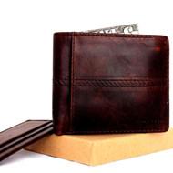 Men Genuine italian Leather wallet Billfold case COIN POCKET CARD id 1 Cash Slots  handcraft free shipping