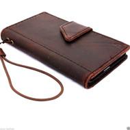 genuine italian leather case fit samsung galaxy s5 book wallet magnet cover luxury vintage brown slim s 5  daviscase