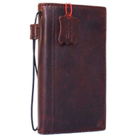 genuine italy leather case for iphone 6 cover book wallet credit card  luxurey flip free shipping