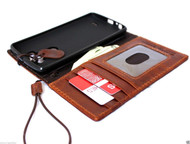 genuine italian vintage leather Case for LG G3 slim book wallet cover luxury handmade light brown thin daviscase