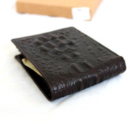 Men Money Clip Genuine Leather wallet Pocket Purse crocodile Card Billfold slim it