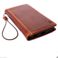genuine leather hard case for iphone 5 5s 5c SEbook wallet cover  credit cards slots c s flip handmade luxury cards lots holder bright brown slim daviscase