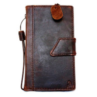 genuine oiled leather hard case for Galaxy NOTE 4 LEATHER CASE  cover purse book pro wallet stand  flip free shipping luxury au