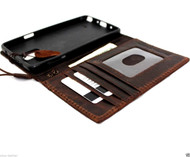 genuine oil leather hard case for Galaxy NOTE 4 book pro wallet cover cards slots stand  flip free shipping luxury brown uk