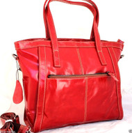Genuine leather woman bag Tote Hobo Handbag Shoulder Messenger Purse Satchel red free shipping