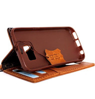 genuine italian leather Case for galaxy s6 book wallet cover slim