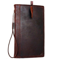 genuine Leather case hard Case for Motorola Nexus 6 book Wallet cover cards sots slim classic brown daviscase