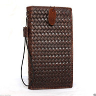 genuine vintage leather hard case for Galaxy NOTE 4 book wallet cover slim brown stand cards slots flip free shipping luxury slim brown daviscase