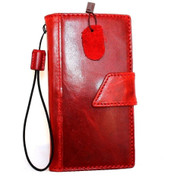 genuine real vintage leather Case For sony Xperia Z3 book wallet 3 z handmade red wine