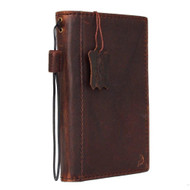genuine oiled italian leather Case for Samsung Galaxy note edge book wallet luxury cover s Businesse