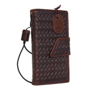 genuine italian leather hard case foriphone 5s 5c 5 SE book wallet magnet closure cover credit cards slots flip handmade luxury slim brown daviscase