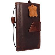 genuine italian leather hard Case for LG G4  book wallet magnet cover slim brown luxury handmade thin daviscase