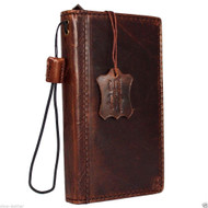 genuine vintage italian leather Case for sony Xperia Z4 book wallet cover slim brown 4 z handmade IL daviscase