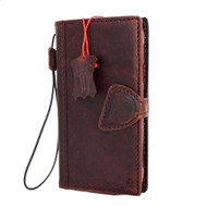 genuine natural leather Case for Samsung Galaxy S6 active book wallet luxury magnet cover s 6 slim brown cards slots daviscase