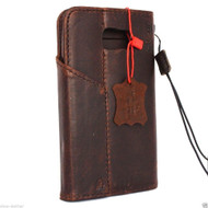 genuine natural leather Case for Samsung Galaxy note 5 book wallet luxury cover 5 slim