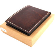 Men Genuine italian Leather wallet Billfold case credit cards slots maximum slim id  Slots  handcraft luxury davis case