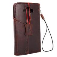 genuine vintage leather Case for LG G4 book wallet magnet luxury cover brown handmade MAGNET close daviscase