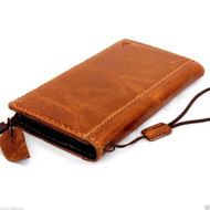 genuine italian leather case for iphone 6 plus cover book wallet band credit card id business slim flip davis case AU