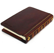 Handcrafted Genuine Leather Case Journal bible Book Cover Note Art Handmade wallet art
