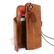 genuine oiled italy slim leather case for iphone 6s  4.7 cover book wallet credit card premium