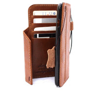 genuine vintage leather case for iphone 6s+ \ 6 plus cover book wallet credit card id magnet business lite slim uk