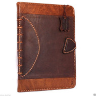 genuine natural Leather case for apple iPad mini 4 hard magnet cover handbag cards slots slim sport football design daviscase