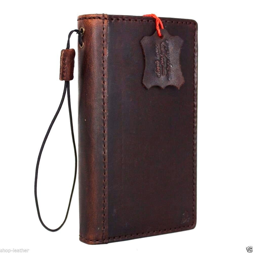 new product 69471 c68a0 genuine vintage leather Case for Samsung Galaxy S6 active book wallet  luxury cover s 6 slim brown thin daviscase