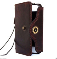 genuine italian oiled  leather slim case for iphone 6s  4.7 cover book wallet credit card  luxurey flip slim DE