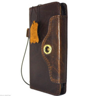 genuine vintage leather Case for Samsung Galaxy S6 active book wallet luxury cover s 6 pro cards slots brown daviscase