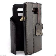 genuine vintage leather Case for Samsung Galaxy note 5 book wallet magnet cover luxury black cards slots slim daviscase