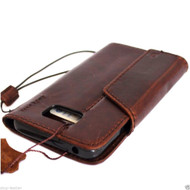 genuine vintage leather Case for Samsung Galaxy note 5 book Art pro wallet luxury cover 5 slim 3D