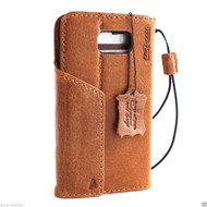 genuine vintage leather Case fit for Samsung Galaxy note 5 book wallet luxury cover 5 slim 3D