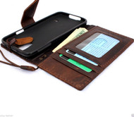 genuine italian leather case fit samsung galaxy s5 hard cover cards slots wallet stand luxury magnet brown s 5 A1 daviscase