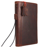 genuine vintage leather Case for Samsung Galaxy S7 book wallet luxury cover cards slots classic dark brown slim s IL daviscase