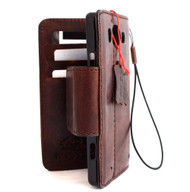 genuine italian leather case for  Microsoft lumia 950 cover book wallet credit card magnet bracket luxurey RETRO