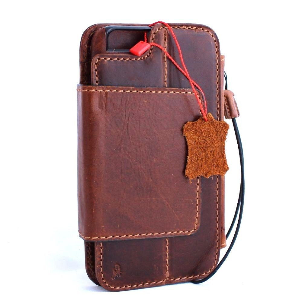 low priced a374e 96f0f genuine vintage leather case for iphone 6s plus cover Detachable book  wallet credit card id Removable magnet Art 6