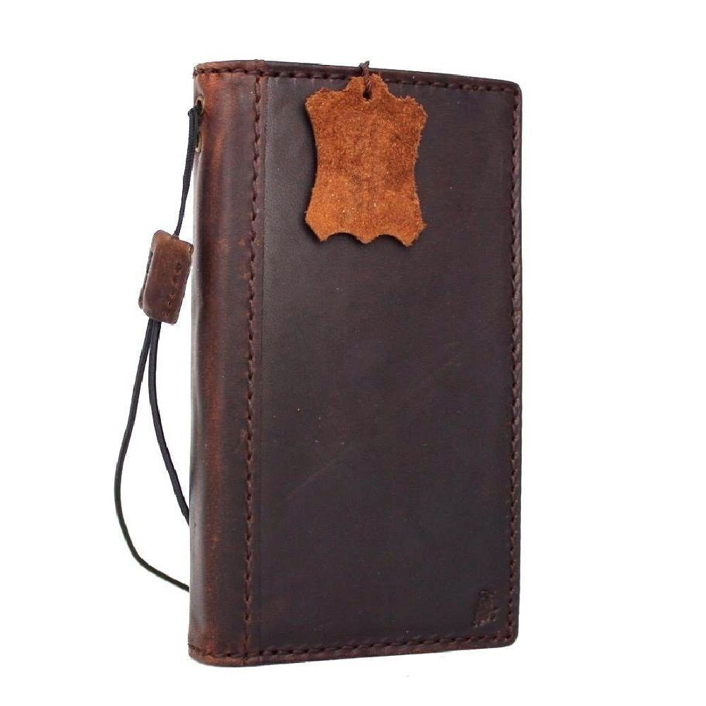 buy popular 0243e 6f86a genuine vintage leather case for samsung galaxy s7 active book wallet cover  luxury brown slin cards slots thin daviscase 7 s