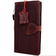 Genuine Italian oiled  leather slim case for iPhone 7 cover book wallet credit card  luxury flip slim magnetic RFID Pay Art