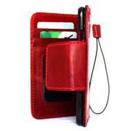 Genuine italian real  leather slim case for iphone 7 8 cover book wallet Redv wine credit card  luxurey flip slim magnetic RFID Pay 3d