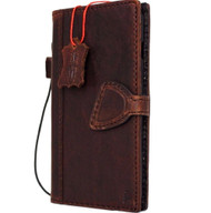 Genuine Real  leather slim case FIT for iphone 7 plus cover book wallet credit card  luxurey flip slim magnetic RFID Pay PREMIUM 3D 60s