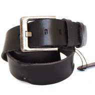 Genuine full Leather belt 43mm mens womens Waist handmade classic black for size S new IL