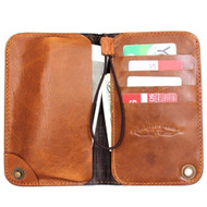 genuine italy leather case for apple iphone 7 cover book redro wallet credit s card  business slim flip brown vintage thin