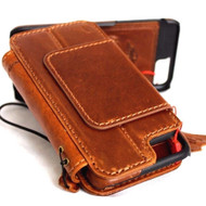 genuine vintage leather case for iphone 7 plus cover book wallet credit card id Removable magnet Art